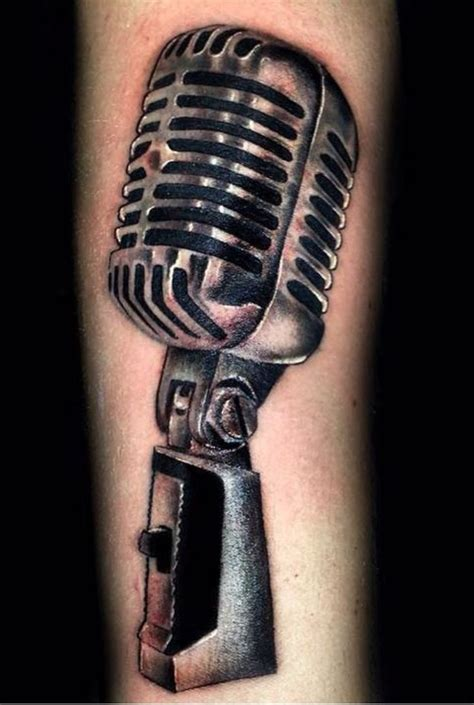 mic tattoo designs 27 best microphone tattoos images on