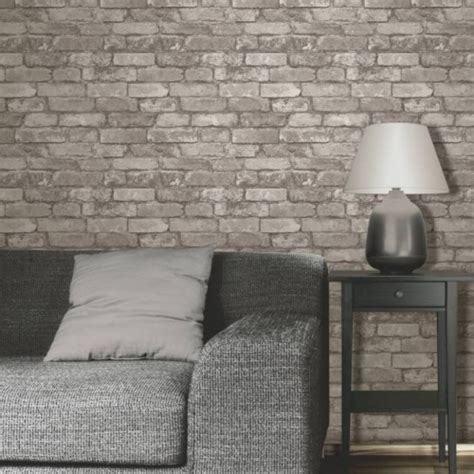 grey wallpaper nz rustic brick silver grey wallsorts