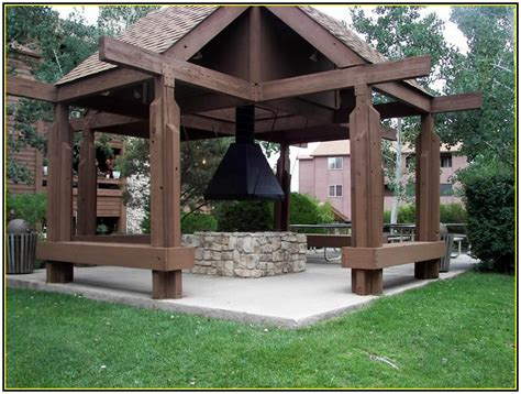 covered pit ideas classic outdoor gazebo designs with pit idea picture