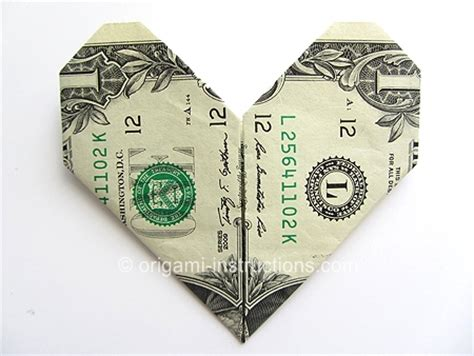 Origami Out Of A Dollar - origami money origami