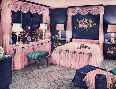 retro girls bedroom vintage 1940s 1950s bedroom decor kitsch ugly but