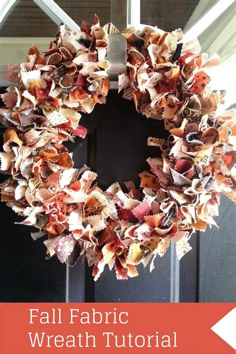 fabric fall wreath tutorial easy diy fall home decor