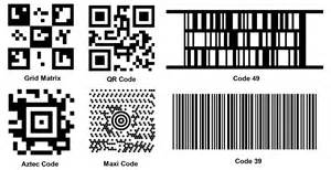 Different types of barcodes images frompo 1