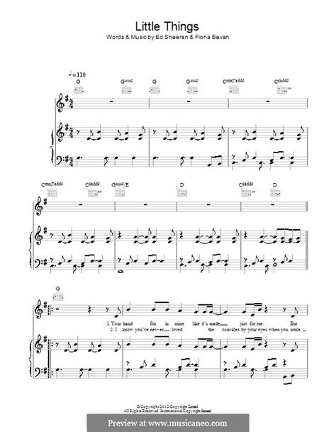 Guitar Chords For Little Things By One Direction