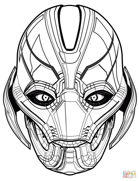 marvel coloring pages ultron coloring page free printable coloring pages