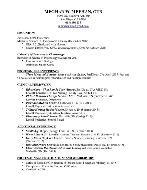 sle occupational therapy resume sle occupational therapist resume 28 images acute care