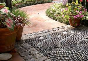 see how pebble tile mosaics create a modern pebble mosaic 8 wonderful diy walkways and garden paths