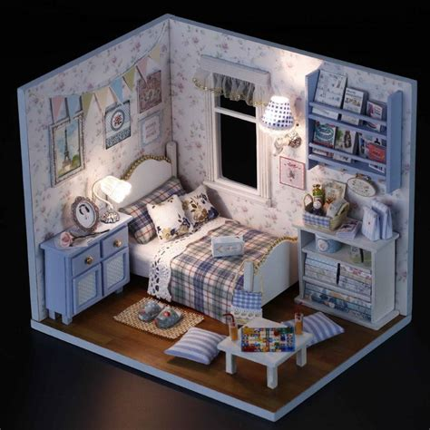 Handmade Dollhouse For Sale - doll house with dust cover diy miniature 3d puzzle wooden
