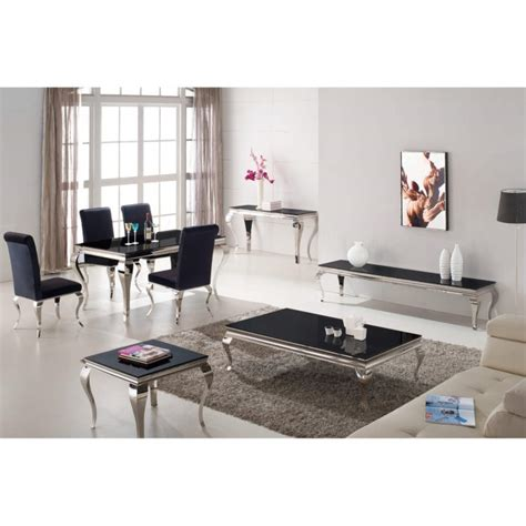 vida living louis 200cm dining table with 6 louis 200cm black glass mirrored dining table by vida living furniture123