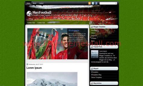 drupal soccer theme green soccer football blogger template