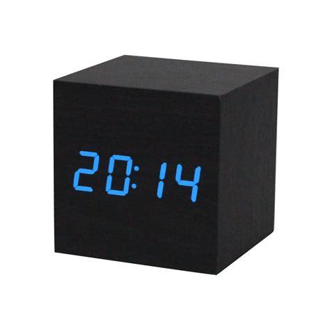 2016 digital led black wooden wood clocks desk home
