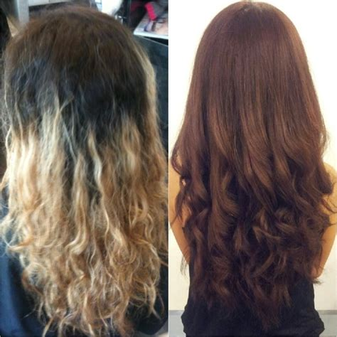 cut before dye hair major before and after color correction by carleen yelp