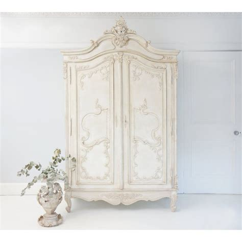 delphine distressed shabby chic armoire french armoire and armoires