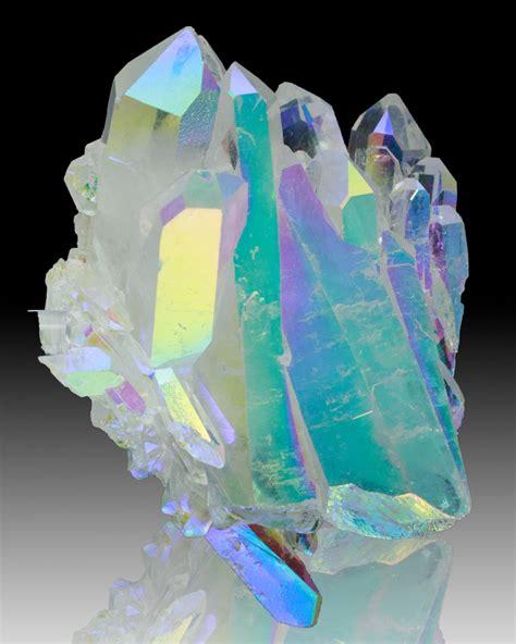 aura crystals 4 4 quot flashy gleaming neon iridescent opal aura quartz