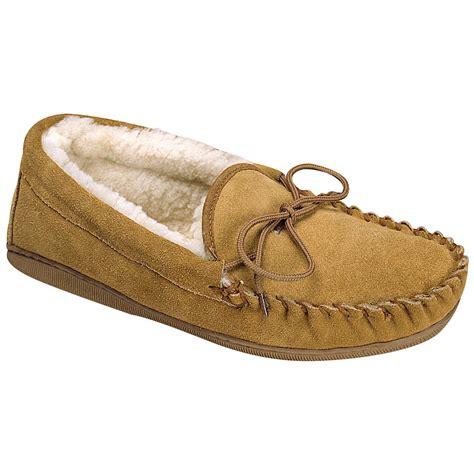 mens moccasin slipper mens sheepskin lined rubber sole moccasin slipper mens