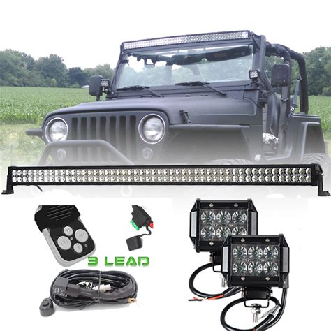 50 Inch 288w Offroad Led Light Bar Combo 4 Inch 18w Spot 50 Led Light Bar Jeep