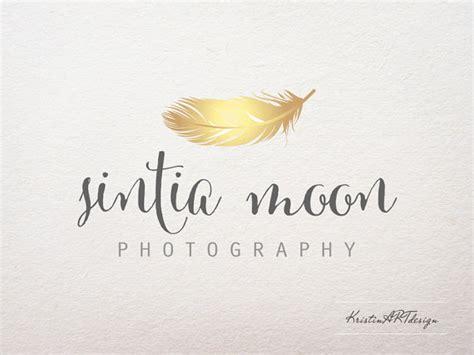Angebot Hochzeitsfotografie Muster premade logo photography logo feather logo gold logo gold