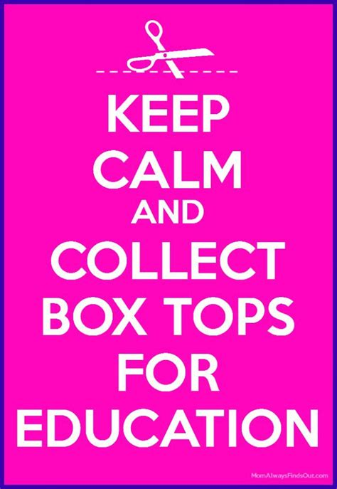 Education Box help schools earn with box tops for education box