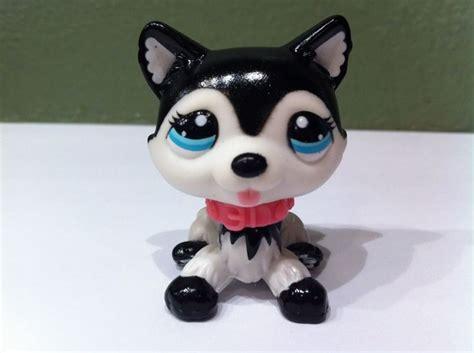 lps husky puppy littlest pet shop husky 2246 black white blythe puppy