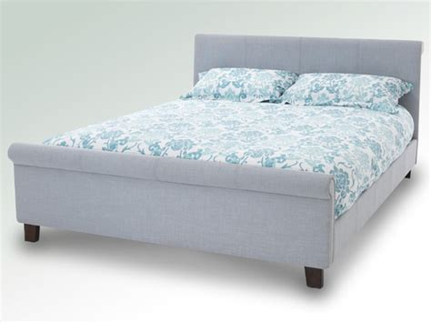 Grey King Size Bed Frame Serene Hazel King Size Grey Fabric Bed Frame With Mahogany