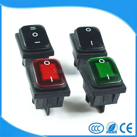 Black Housing 16 Pin Pin waterproof latching rocker toggle switch green black 4pin 2position 6pin 3position ac250v