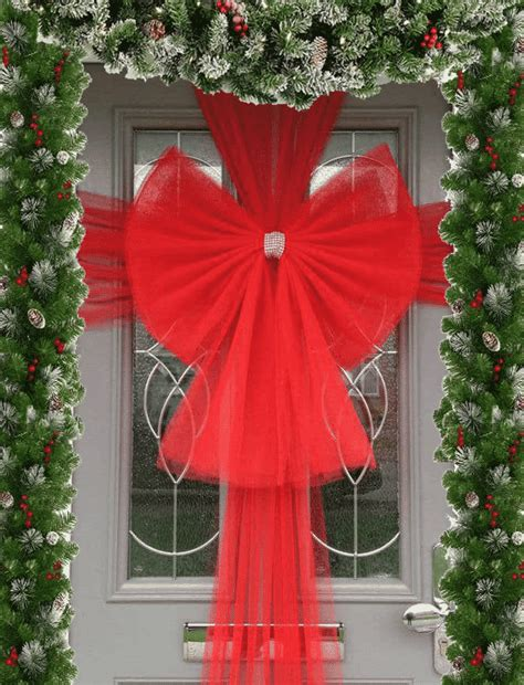 buy christmas red door bow fun party supplies  day