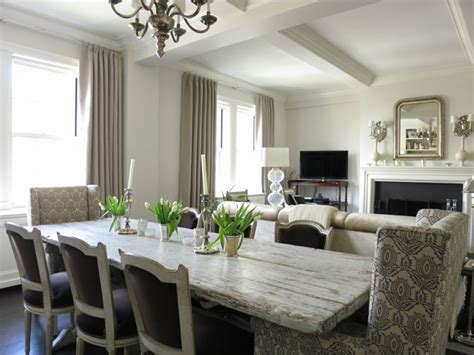 gray dining room table distressed dining table transitional dining room