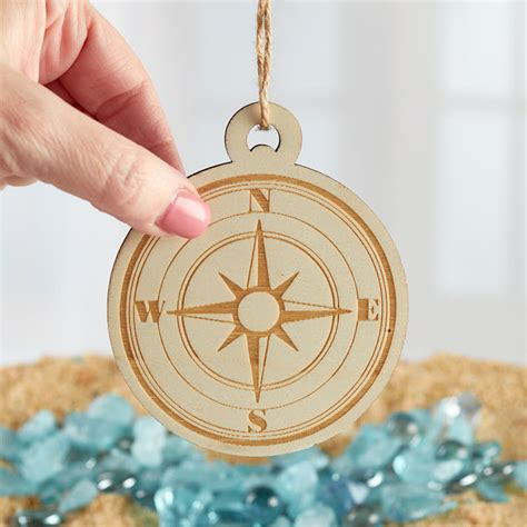 unfinished wood compass ornament christmas ornaments