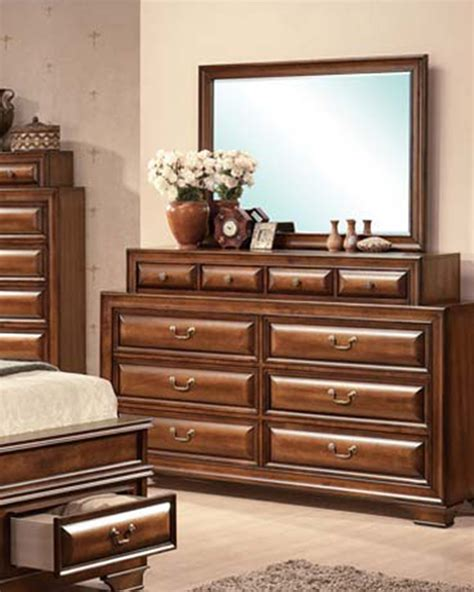 old style dresser with mirror acme dresser w mirror in antique style konane ac20458dm