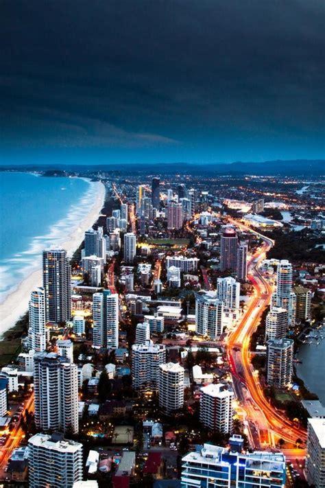 Wallpaper Suppliers Gold Coast Australia | مناظر المدينة أستراليا ساحل الذهب ليلا wallpaper