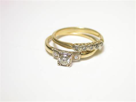 1940 s wedding ring set