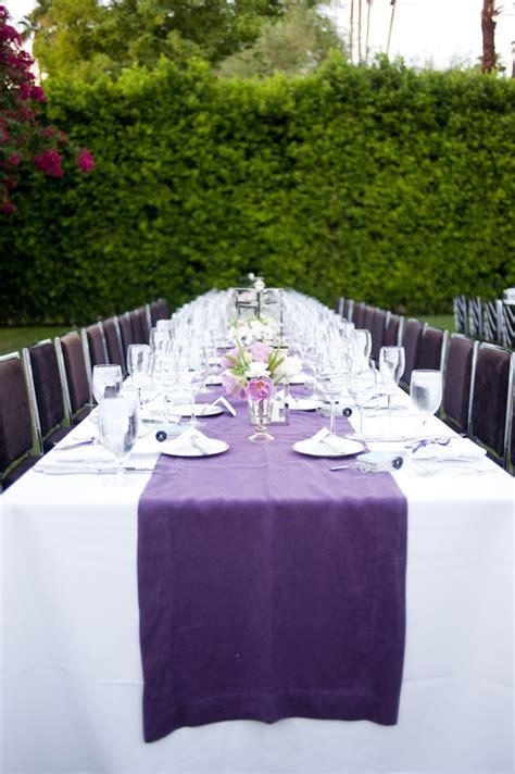 eggplant colored table linens 25 best ideas about purple table settings on