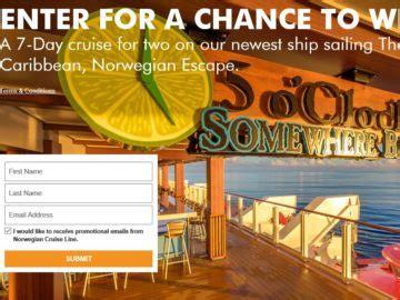 Cruise Line Sweepstakes - norwegian cruise line margaritaville 2016 sweepstakes