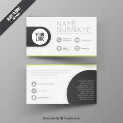 visit card design template vector free