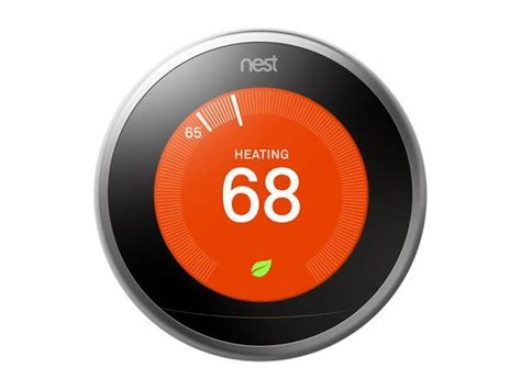 Nest Learning Thermostat 3rd Generation, Stainless Steel, Works with Google Home and Amazon