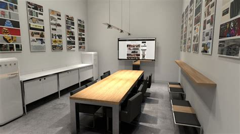 free c4d 3d scene meeting room model the pixel lab