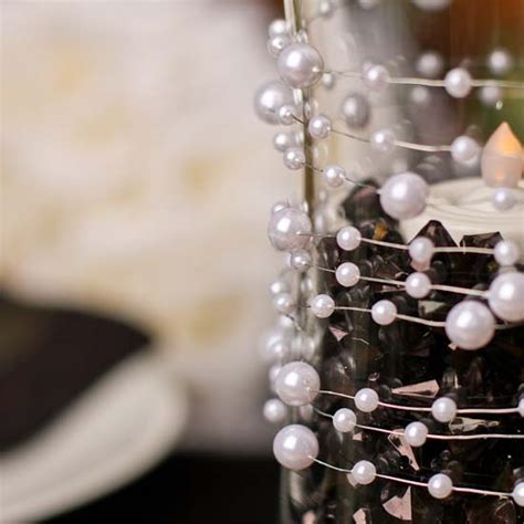 white pearl wire garland bridal shower party special
