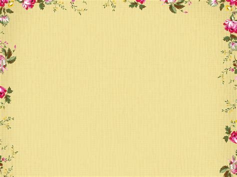 Free Abstract Border Flower Backgrounds For Powerpoint Border And Frame Ppt Templates Powerpoint Templates Borders