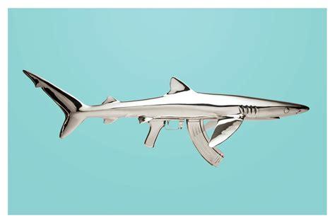 Tlf 45 Shark when awe and fear merge into stainless steel shark gun