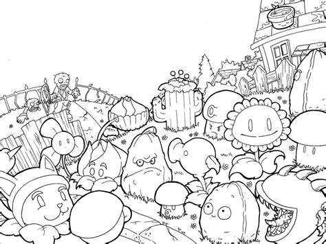 free coloring pages of r plants vs zombies