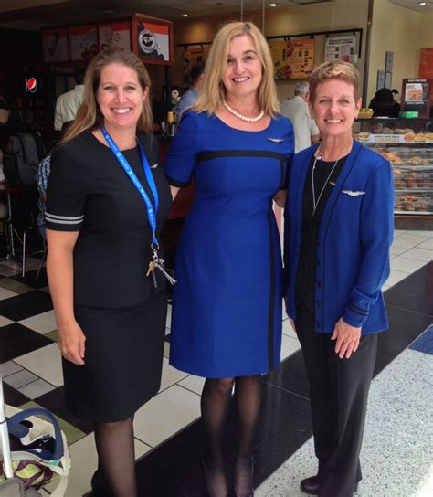 French Apartments by New Uniforms Happy United Airlines Flight Attendants