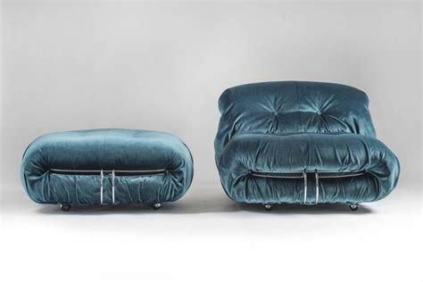 blue velvet armchair and ottoman armchair and ottoman in blue velvet quot soriana quot by tobia