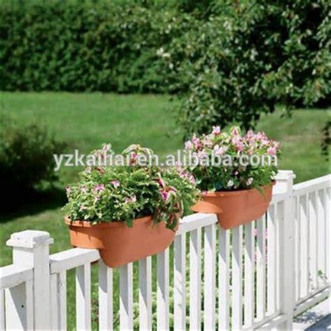Planter Pots On Sale by On Sale Kailai Deck Rail Planter Box Color Clay Garden