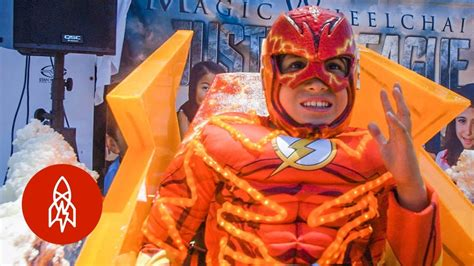 wheelchair costumes turn kids  superheroes youtube