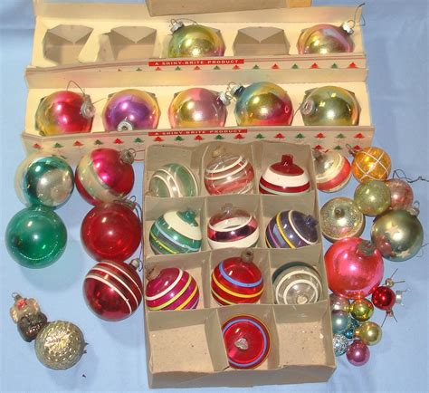 vintage tree ornaments vintage shiny brite product tree ornaments