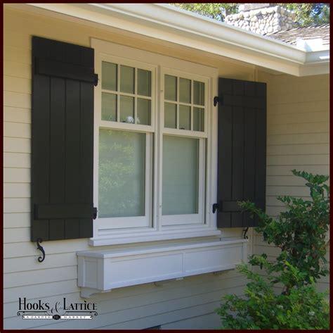 azek window boxes pvc composite shutters board and batten shutters hooks