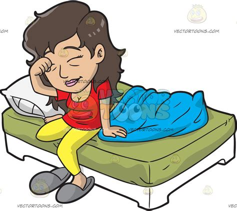 get up a sleepy getting up from bed clipart
