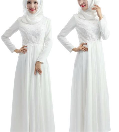 Wedding Dress Muslimah Simple by Find A Simple Beaded Lace Chiffon Muslin Wedding Dress Bow