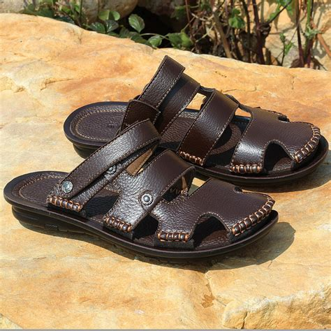 mens closed toe leather dress sandals aliexpress popular mens closed toe leather sandals in shoes
