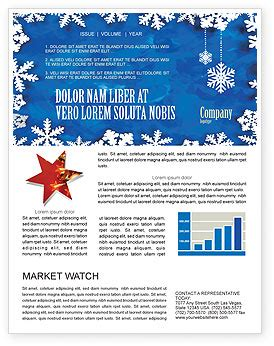 winter theme newsletter template for microsoft word